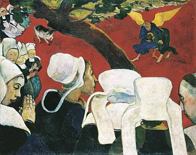 Sermon Photograph - Gauguin, Paul 1848-1903. The Vision by Everett