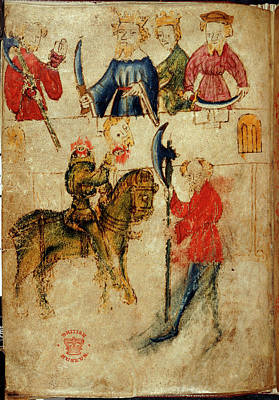 Gawain And The Green Knight Print by British Library