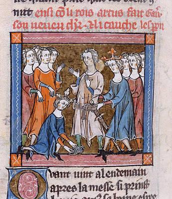 Gawain Made A Knight Print by British Library