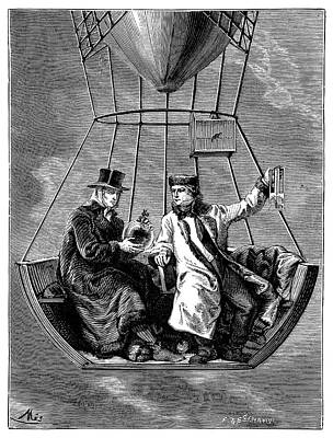 1804 Photograph - Gay-lussac And Biot Balloon Ascent by Science Photo Library