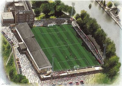 Art Mobile Painting - Gay Meadow - Shrewsbury Town by Kevin Fletcher