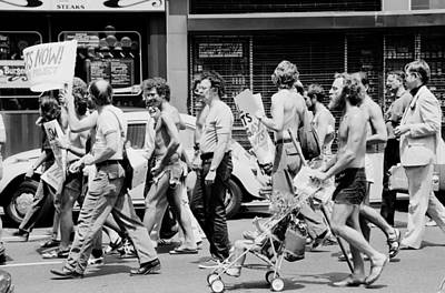 Gay Rights Demonstration During The Democratic National Convention In Nyc - 1976 Print by Mountain Dreams