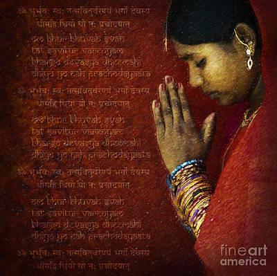 Awareness Digital Art - Gayatri Mantra by Tim Gainey