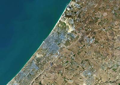 Gaza City Print by Planetobserver