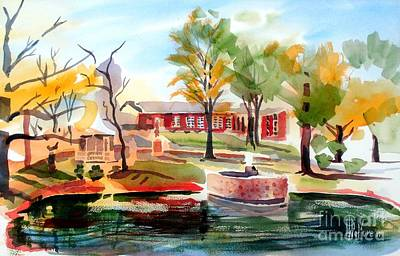 Autumn Scenes Painting - Gazebo Pond And Duck II by Kip DeVore