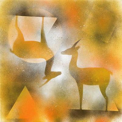 Gazelles Print by Hakon Soreide
