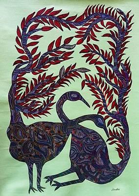 Gond Artist Painting - Gbb 02 by Geetha Bariya