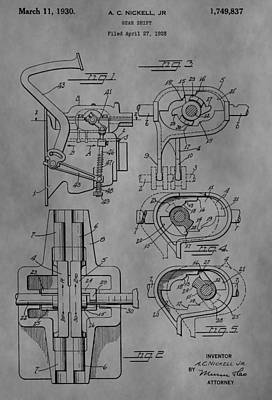 Truck Drawing - Gear Shift by Dan Sproul