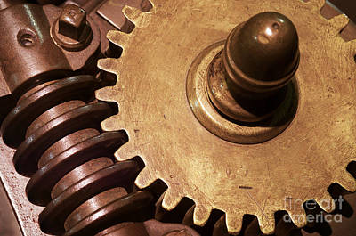 Machinery Photograph - Gear Wheels by Carlos Caetano
