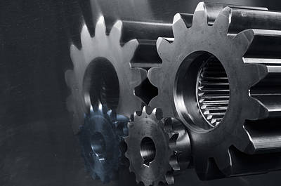 Gears And Power Print by Christian Lagereek