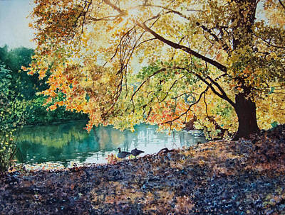 Geese Under A Tree Original by Ben Sapia