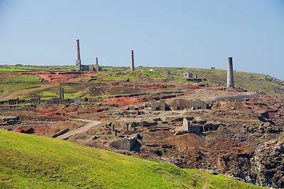 Precious Metal Photograph - Geevor Tin Mine by Ashley Cooper