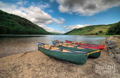 North Wales Digital Art - Geirionydd Lake by Adrian Evans