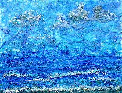 Gelid Seascape Revised Print by Regina Valluzzi