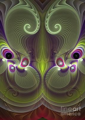 Green Digital Art - Gelsomina - Surrealism by Sipo Liimatainen