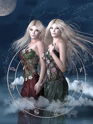 Mystical Women Mixed Media - Gemini by Britta Glodde