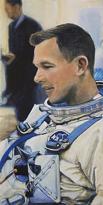 Astronauts Painting - Gemini Viii Dave Scott by Simon Kregar