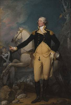 Male Horse Painting - General George Washington At Trenton, 1792 by John Trumbull