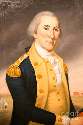 George Washington Photograph - General George Washington Ca 1790 by Edward Fielding