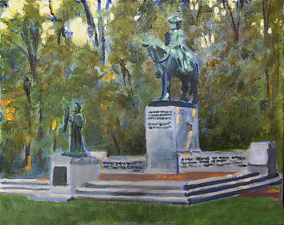 County Courthouse Statue Painting - General Greene by David Zimmerman