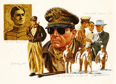 General Macarthur Print by Dick Bobnick