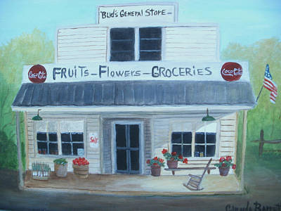 Store Fronts Painting - General Store by Glenda Barrett