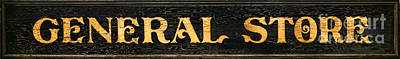 General Store Photograph - General Store Sign by Olivier Le Queinec