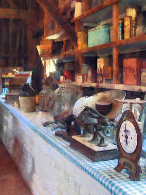 Quaint Photograph - General Store With Scales by Susan Savad