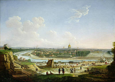 Ecole Photograph - General View Of Paris From The Chaillot Hill, 1818 Oil On Canvas by Seyfert