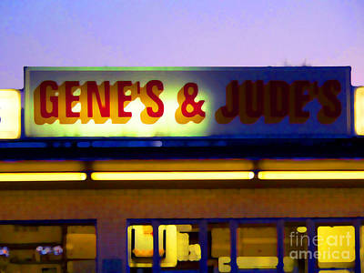 Hot Dog Stands Photograph - Genes  And Judes by David Bearden