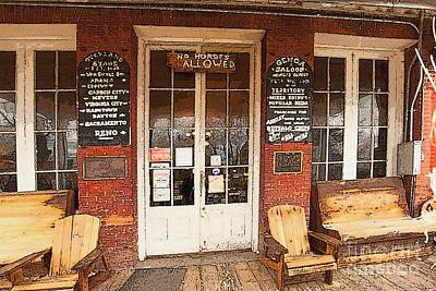 Genoa Saloon Oldest Saloon In Nevada Print by Artist and Photographer Laura Wrede