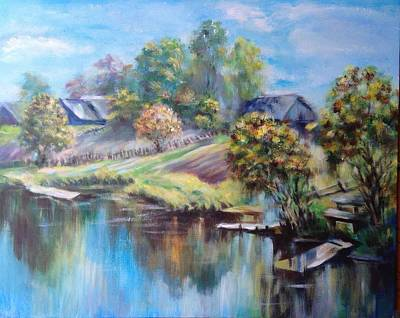 Landskape Painting - Gentle Morning by Olga Lazareva