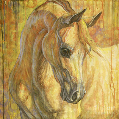 Horses Painting - Gentle Spirit by Silvana Gabudean