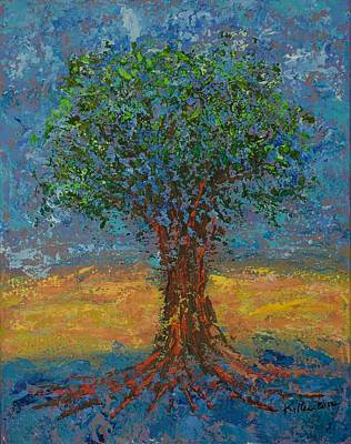 Pallet Knife Painting - Gentle Strength by William Killen