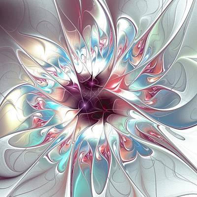 Meditation Digital Art - Gentle Touch by Anastasiya Malakhova