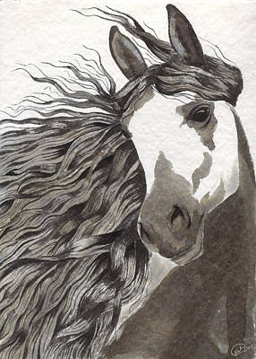 Pinto Painting - Gentleness by Kate Black