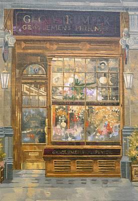 Gentleman Photograph - Geo F. Tumper, Jermyn Street, London Oil On Canvas by Peter Miller