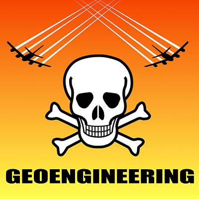 Strontium Photograph - Geoengineering Hazards by Daniel Hagerman