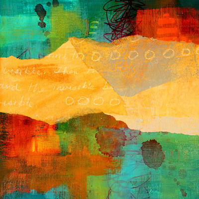 Abstract Seascape Mixed Media - Geography by Nancy Merkle