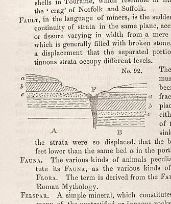 Geological Fault Print by Science, Industry And Business Library: General Collection/new York Public Library
