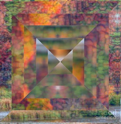 Autumn Photograph - Geometric Abstract Autumn by Kerri Farley