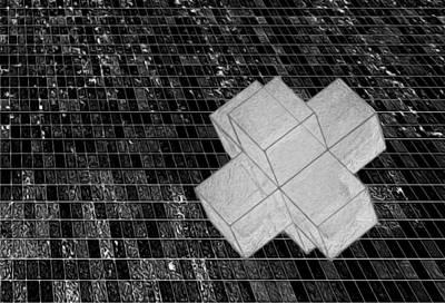 Geometric Abstract Print by Jack Zulli