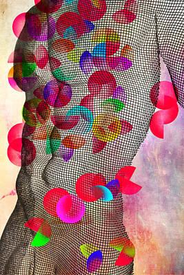 Nude Digital Art - Geometric Body  by Mark Ashkenazi