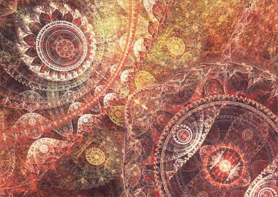 Lyrical Digital Art - Geometric Nature by Martin Capek