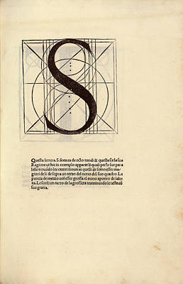 Proportions Photograph - Geometrical Letter 's' by Library Of Congress