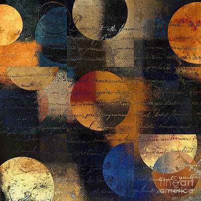 Circles Digital Art - Geomix 01 - 128124149-03b by Variance Collections