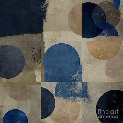Abstract Forms Digital Art - Geomix 01 - S111d-t02c by Variance Collections