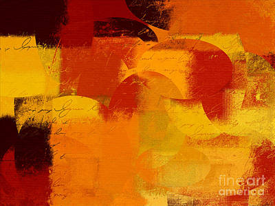 Yellow Abstracts Digital Art - Geomix 05 - 01at01b by Variance Collections