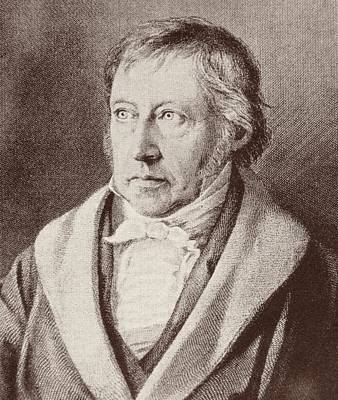 Intellect Drawing - Georg Hegel  by Anonymous