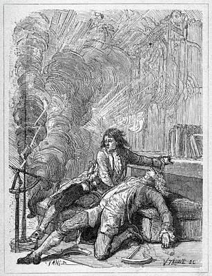 Shock Painting - Georg Wilhelm Richmann (1711-1753) by Granger